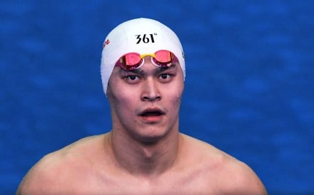 China's Sun Yang reacts after competing in a heat for the men's 200m freestyle event during the swimming competition at the 2019 World Championships in July, 2019. Photo: AFP