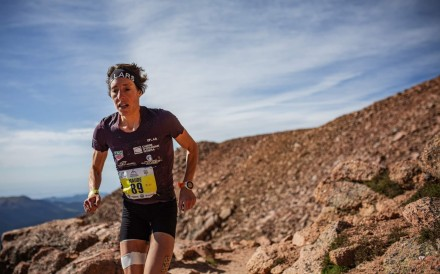 Switzerland's Maude Mathys, the top-rated trail running woman by ITRA points, sets the record on the Pikes Peak Marathon in Colorado. Photo: Philipp Reiter