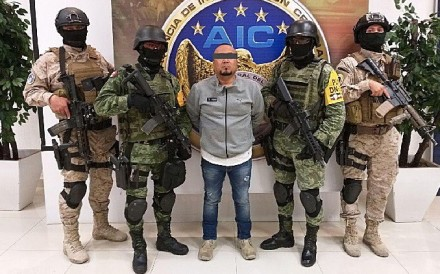 Jose Antonio Yepez was arrested by federal forces in Guanajuato, Mexico on Sunday. Photo: Guanajuato State Attorney's Office handout via EPA-EFE