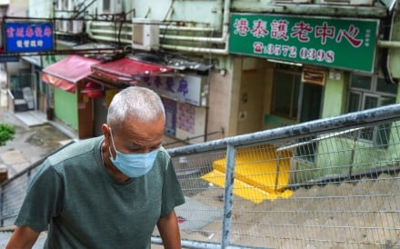 Hong Kong recorded its 36th death linked to Covid-19, and the ninth from a cluster of 45 infections at Kong Tai Care for the Aged Centre Limited in Tsz Wan Shan. Photo: Sam Tsang