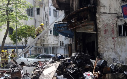 Three people died from the explosion at a Wong Tai Sin garage in 2015. Photo: SCMP