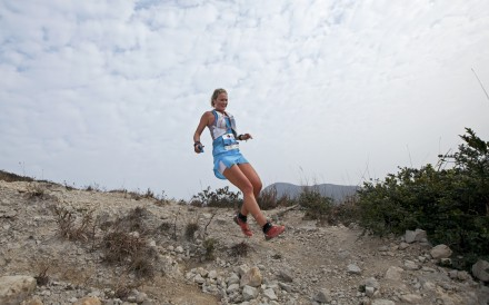 Lucy Bartholomew runs the MSIG 50 Sai Kung Hong Kong, Asia Skyrunning Championships in 2015. Photo: Lloyd Belcher Visual.