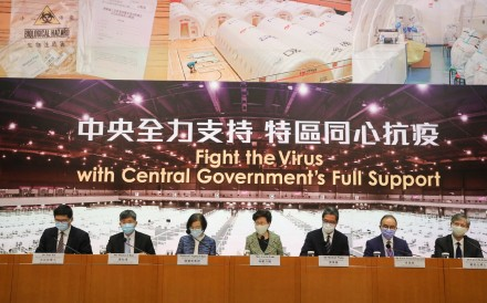 Hong Kong Chief Executive Carrie Lam announces free Covid-19 testing for residents. Photo: K.Y. Cheng