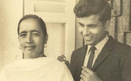 The author with his mother, Mrs Shimla Vati, fondly called Biji, in 1969. Photo courtesy of J.V. Yakhmi