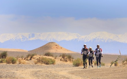 The Gobi March, a 250km, six-stage ultramarathon in China's remote northeastern province of Xinjiang, tests the best athletes. Photo: Zandy Mangold/4Deserts