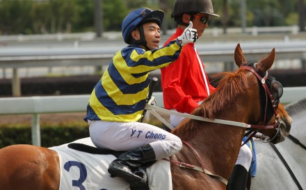Howard Cheng, enjoying a win at Sha Tin in February 2016, is now riding in the UK. Photo: Kenneth Chan