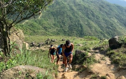 Wong Ho-chung runs 360km around Hong Kong. Photo: Handout