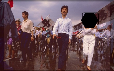 Cai Chongguo (centre) took part in pro-democracy protests in Beijing in 1989. He was rescued by Operation Yellow Bird weeks after the Tiananmen Square crackdown. Photo: Cai Chongguo