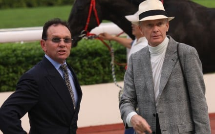 Gary and John Moore after a winner at Sha Tin in 2010. Photos: Kenneth Chan