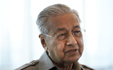 Former Prime Minister Mahathir Mohamad speaks during an interview in Kuala Lumpur on Friday. Photo: AP
