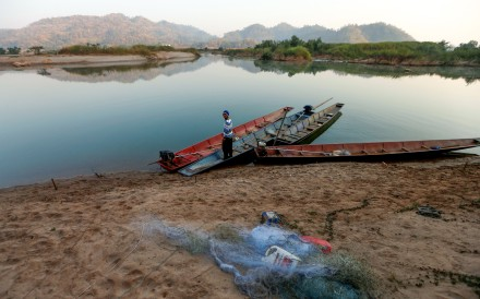 A fisherman on the Mekong. Photo: Reuters