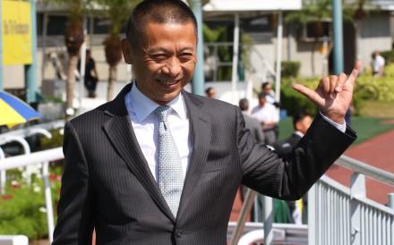 Danny Shum celebrates a winner last season. Photos: Kenneth Chan