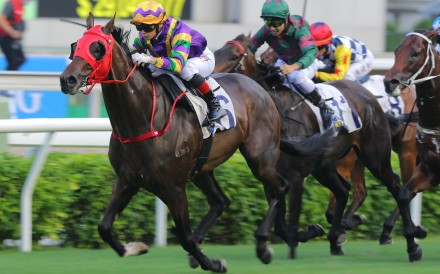Alexis Badel drives Perfect Match to victory in the HKSAR Chief Executive's Cup at Sha Tin on Sunday. Photos: Kenneth Chan