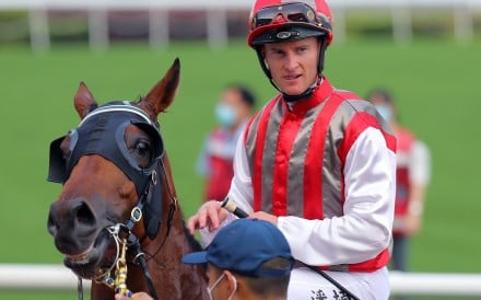 Zac Purton returns after winning on Metro Warrior at Sha Tin on Sunday. Photos: Kenneth Chan