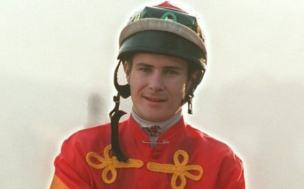 Pat Smullen returns to scale after winning his first race in Hong Kong with Wishes in December 1999. Photo: SCMP