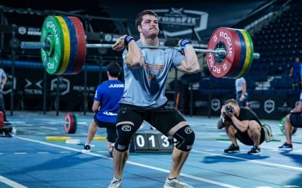 The CrossFit athletes will have 20 minutes to post their one-rep max on a front squat as one of this weekend's workouts. Photo: Dubai CrossFit Championship