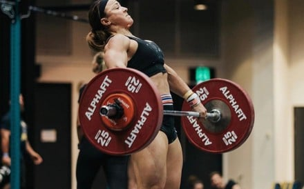 Kara Saunders topped the final workout but missed a place in the finals. Photo: @alphafit_aus