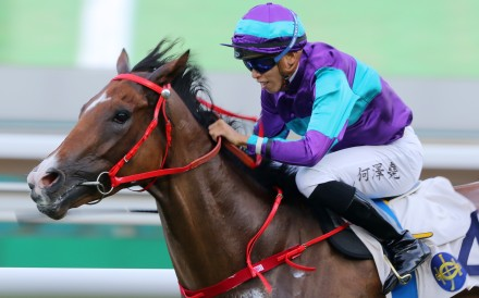 Winning Dreamer bolts in at Sha Tin on Sunday. Photos: Kenneth Chan