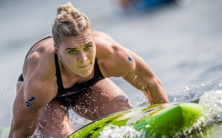 Katrin Davidsdottir, two-time CrossFit Games champion, has moved up the leader board after two victories. Photo: Handout