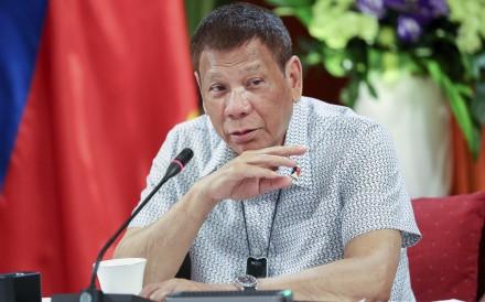 Philippine President Rodrigo Duterte at the Malacanang presidential palace. Photo: AP