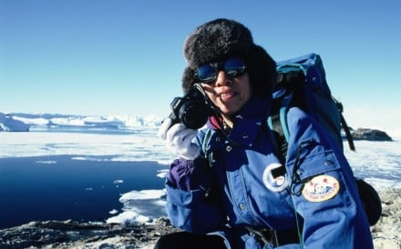 Famous Hong Kong explorer Rebecca Lee Lok-sze at the South Pole in 1990. Photo: Rebecca Lee