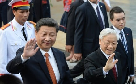 Chinese President Xi Jinping (left) and his Vietnamese counterpart Nguyen Phu Trong spoke on the phone on Tuesday. Photo: AP