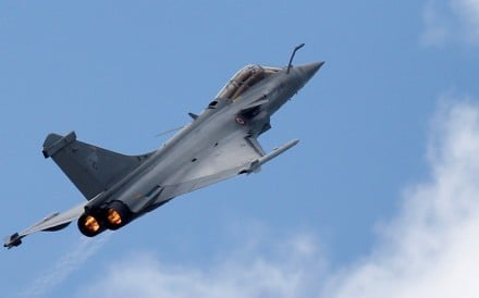 The military said the Rafale jet was authorised to travel at supersonic speed. Photo: Reuters