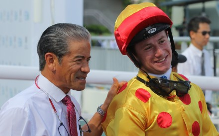 Hong Kong trainer Tony Cruz with jockey Oisin Murphy after a win in May 2018. Photos: Kenneth Chan