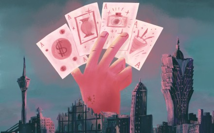 While analysts and industry observers agree on Macau's need to diversify its economy from gaming, they say the city has to find a financial niche for itself. Illustration: Brian Wang