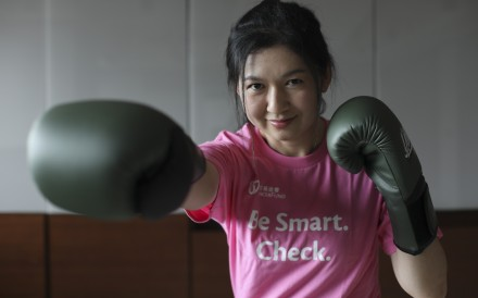 Young cancer survivor Annie Lee talks about the importance of a healthy lifestyle. Photo: Xiaomei Chen