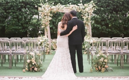 Social distancing and weddings don't mix – many couples have had to postpone their marriage but others have shared their special day digitally. Photo: The Upper House