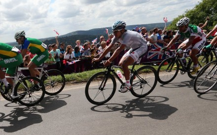 Wong Kam-po competes for Hong Kong in the men's road race at the 2012 London Olympic Games. Photo: SCMP