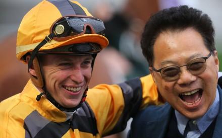 Tony Piccone (left) celebrates a winner at Sha Tin last season. Photos: Kenneth Chan