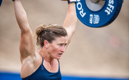 Tia-Clair Toomey is in her familiar role – leading the field at the CrossFit Games. Photo: CrossFit Games Facebook