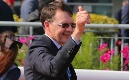 Aidan O'Brien celebrates a victory at Sha Tin. Photos: Kenneth Chan