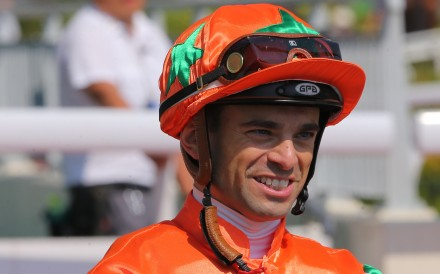 Umberto Rispoli is all smiles after a winner at Sha Tin. Photos: Kenneth Chan