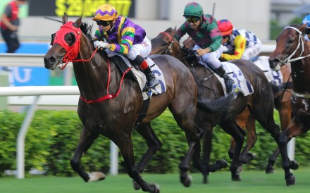 Alexis Badel guides Perfect Match to victory in the Class One HKSAR Chief Executive's Cup in September. Photo: Kenneth Chan