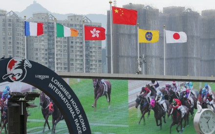 Flags fly at Sha Tin during the Hong Kong International Races. Photos: Kenneth Chan
