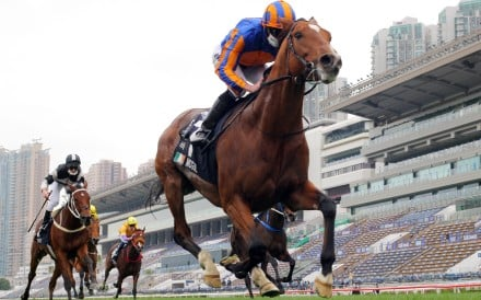 Ryan Moore guides Mogul to victory in the Hong Kong Vase. Photos: Kenneth Chan
