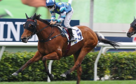 Matthew Poon coasts to victory aboard Lucky Patch at Sha Tin on Sunday. Photos: Kenneth Chan