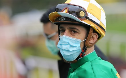 Christophe Soumillon after riding a winner during his latest Hong Kong stint. Photos: Kenneth Chan