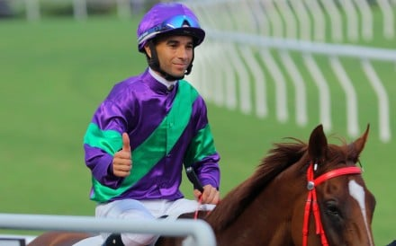 Joao Moreira celebrates after saluting aboard Excellent Proposal. Photos: Kenneth Chan
