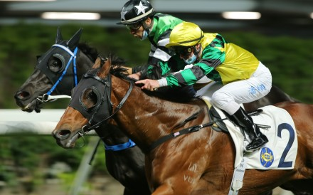 Zac Purton and Joao Moreira fight out a finish at Happy Valley last week. Photos: Kenneth Chan