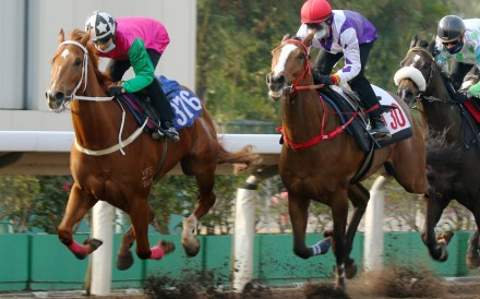 Joyful Fortune dashes clear in a recent barrier trial under Joao Moreira. Photos: Kenneth Chan