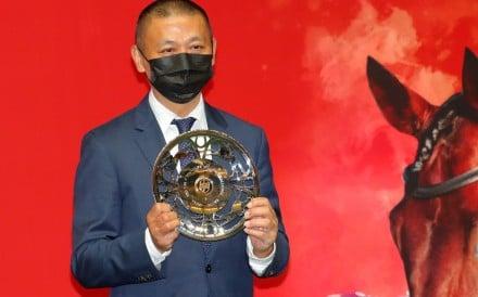 Danny Shum celebrates Grateful Heart's Million Challenge victory. Photos: Kenneth Chan