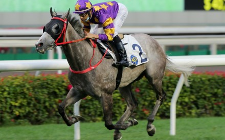 Joao Moreira guides Silver Express to victory at Sha Tin on Sunday. Photos: Kenneth Chan