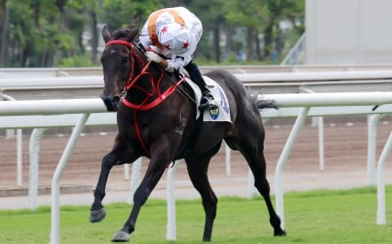 Courier Wonder bolts in on debut under Joao Moreira in October. Photos: Kenneth Chan