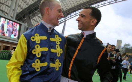 Champion jockeys Zac Purton (left) and Joao Moreira at Sha Tin. Photos: Kenneth Chan