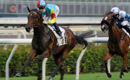 Chad Schofield sits quietly while Fantastic Treasure coasts to victory at Sha Tin on Sunday. Photos: Kenneth Chan