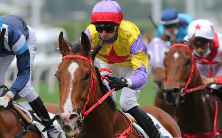 Antoine Hamelin boots Ping Hai Bravo to victory at Sha Tin in March. Photos: Kenneth Chan